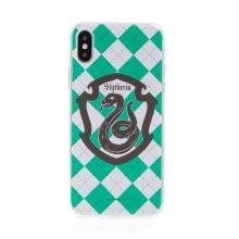 Kryt Harry Potter pro Apple iPhone Xs Max - gumový - emblém Zmijozelu