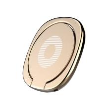 Stojánek / prsten / kovová ploška pro magnetický držák BASEUS Privity pro Apple iPhone - zlatý