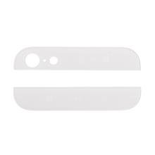 Horní a dolní sklo zadního krytu pro Apple iPhone 5 - bílé - kvalita A