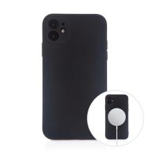 Kryt pro Apple iPhone 11 - MagSafe magnety - silikonový - černý