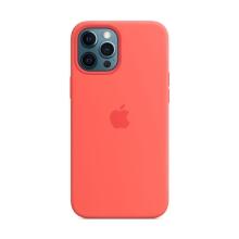Originální kryt pro Apple iPhone 12 Pro Max - silikonový - citrusově růžový