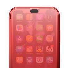 Pouzdro BASEUS pro Apple iPhone Xs Max - průsvitné - plastové / gumové - červené