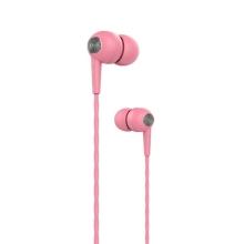 Sluchátka DEVIA s mikrofonem pro Apple iPhone / iPad / iPod a další zařízení - růžová