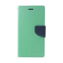 Pouzdro Mercury Fancy Diary pro Apple iPhone Xr - stojánek a prostor na doklady - tyrkysové
