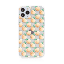 Kryt BABACO - pro Apple iPhone 11 Pro Max - gumový - průhledný - broskvičky