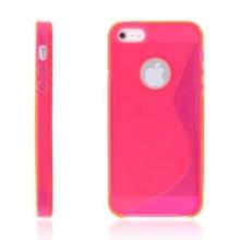 Protiskluzový ochranný kryt S line pro Apple iPhone 5 / 5S / SE - růžový?