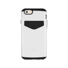 Kryt Mercury pro Apple iPhone 6 Plus / 6S Plus - plasto-gumový - prostor pro umístění platební karty - bílý
