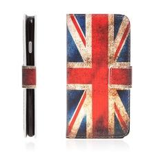 Pouzdro pro Apple iPhone 7 / 8 - stojánek a prostor na doklady - retro vlajka UK