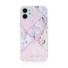 Kryt BABACO pro Apple iPhone 12 mini - gumový - růžový mramor