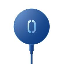 Bezdrátová nabíječka / nabíjecí podložka JOYROOM - Qi / Magsafe kompatibilní - 15W - modrá