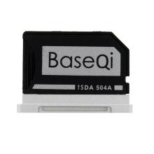 """Přepojka / redukce Micro SD na SD kartu pro Apple MacBook Pro Retina 15"""" (2013 - 2015) - zapuštěná - stříbrná"""