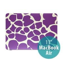 Obal pro Apple MacBook Air 11.6 plastový - fialové tvary