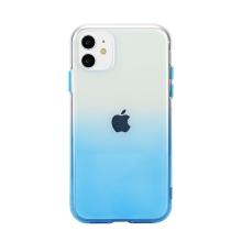 Kryt pro Apple iPhone 11 - gumový - průhledný / modrý