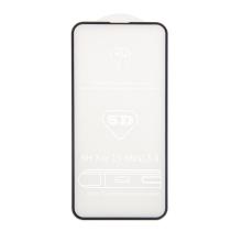 """Tvrzené sklo (Tempered Glass) """"5D"""" pro Apple iPhone 13 mini - 2,5D - černý rámeček - čiré - 0,3mm"""