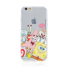 Kryt Sponge Bob pro Apple iPhone 6 / 6S - gumový - Sponge Bob s kamarády