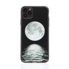 Kryt pro Apple iPhone 11 Pro Max - gumový - černý - měsíc nad mořem