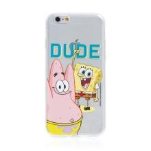 Kryt Sponge Bob pro Apple iPhone 6 / 6S - gumový - Sponge Bob s Patrikem