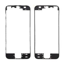 Plastový rámeček předního panelu pro Apple iPhone 5S / SE - černý - kvalita A