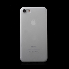 Kryt / obal pro Apple iPhone 7 / 8 - ochrana čočky - ultratenký - plastový - matný - bílý