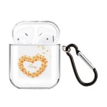 Pouzdro / obal pro Apple AirPods - gumové - květinové srdce