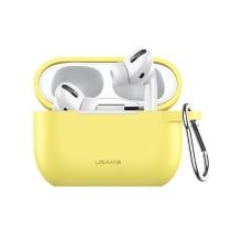 Pouzdro / obal USAMS pro Apple AirPods Pro - silikonové - žluté