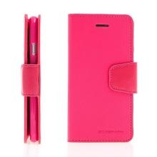 Pouzdro Mercury pro Apple iPhone 6 / 6S - stojánek a prostor pro platební karty - umělá kůže - růžové