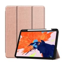 """Pouzdro pro Apple iPad Pro 12,9"""" (2018) / 12,9"""" (2020) - stojánek + prostor pro Apple Pencil - zlaté"""