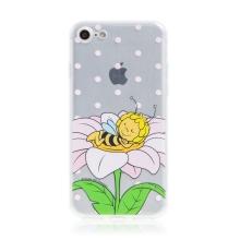 Kryt včelka Mája - pro Apple iPhone - 7 / 8 / SE (2020) - gumový - průhledný - zasněná Mája