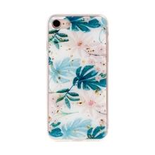 Kryt FORCELL pro Apple iPhone 7 / 8 - zlaté úlomky - gumový / plastový - listy a květy