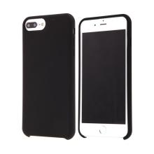 Kryt pro Apple iPhone 7 Plus / 8 Plus - gumový - příjemný na dotek - černý