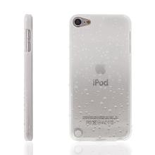 Plastový kryt pro Apple iPod touch 5. / 6. / 7. gen - 3D dešťové kapky - bílý