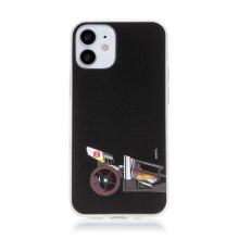 Kryt HOT WHEELS - pro Apple iPhone 12 mini - gumový - formule - černý