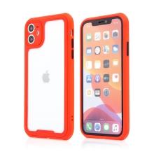 Kryt pro Apple iPhone 11 - plastový / gumový - přesné výřezy fotoaparátu - červený