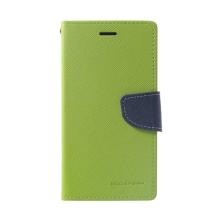 Pouzdro Mercury Fancy Diary pro Apple iPhone Xr - stojánek a prostor na doklady - zelené / modré