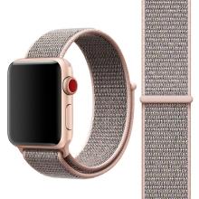 Řemínek pro Apple Watch 44mm Series 4 / 5 / 42mm 1 2 3 - nylonový - růžový