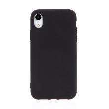 Kryt pro Apple iPhone Xr - příjemný na dotek - silikonový - černý