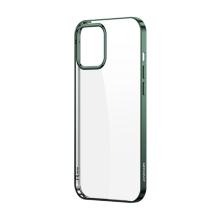 Kryt JOYROOM Samsonite pro Apple iPhone 12 / 12 Pro - gumový - průhledný / zelený