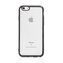 Kryt FORCELL Electro Matt pro Apple iPhone 6 / 6S - gumový - průhledný / černý