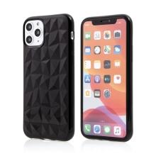Kryt FORCELL Prism pro Apple iPhone 11 Pro Max - diamantový 3D povrch - gumový - černý