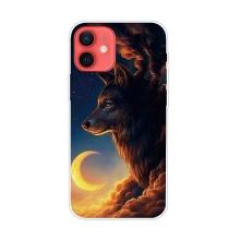 Kryt pro iPhone 12 / 12 Pro - gumový - oblačný vlk