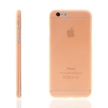 Ultra tenký plastový kryt pro Apple iPhone 6 / 6S - s prvkem pro ochranu skla kamery - oranžový