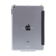 Pouzdro MOKKA pro Apple iPad 9,7 (2017-2018) - stojánek + prostor pro platební karty - retro textura - černé