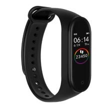 Sportovní fitness náramek M4 - krokoměr / měřič tepu / notifikace - Bluetooth - voděodolný - černý