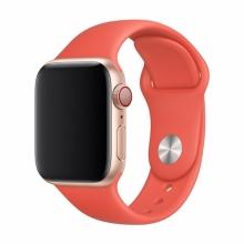 Řemínek DEVIA pro Apple Watch 40mm Series 4 / 5 / 6 / SE / 38mm 1 / 2 / 3 - silikonový - nektarinkově červený