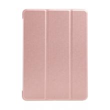"""Pouzdro / kryt pro Apple iPad 9,7 (2017-2018) / Air 1 / 2 / Pro 9,7"""" - funkce chytrého uspání - gumové - Rose Gold růžové"""