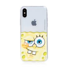 Kryt Sponge Bob pro Apple iPhone X / Xs - gumový - potutelný Sponge Bob