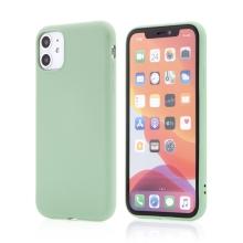 Kryt X-LEVEL pro Apple iPhone 11 - příjemný na dotek - silikonový - zelený