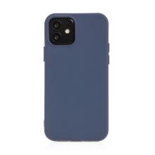 Kryt pro Apple iPhone 12 mini - příjemný na dotek - silikonový - tmavě modrý
