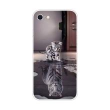 Kryt pro Apple iPhone 7 / 8 / SE (2020) - gumový - odraz tygra
