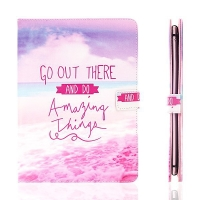 Pouzdro pro Apple iPad Air 2 - stojánek a prostor na doklady - Go Out There and Do Amazing Things